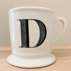 "Anthropologie Initial ""D"" Coffee Mug"